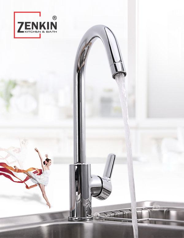 Vòi rửa chén bát nóng lạnh Zenkin ZK2001